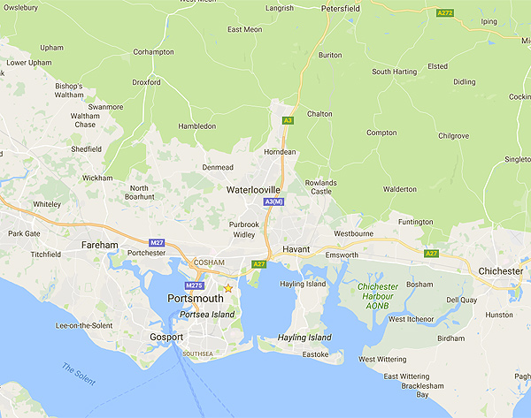 google map of hampshire